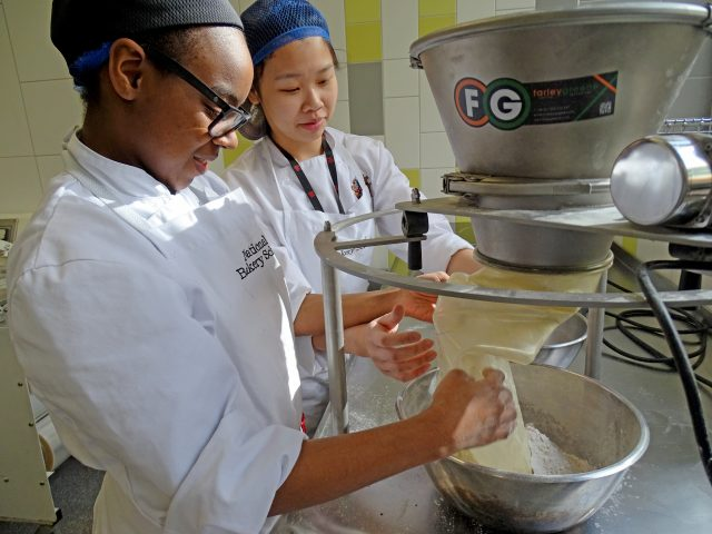Educating National Bakery School on the Benefits of Sifting