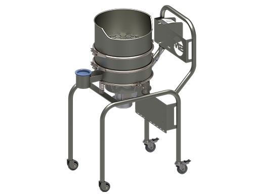 E400 sieve with Sack tip configuration