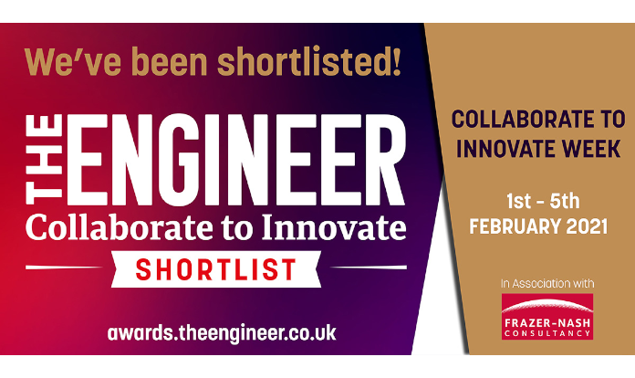 Farleygreene make the shortlist for 'The Engineer' Collaborate to Innovate awards 2021